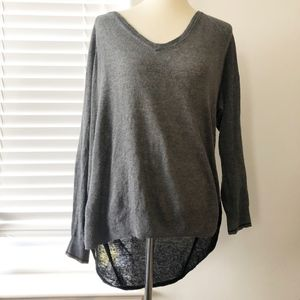 Madewell Grey & Black Color Block Sweater Large